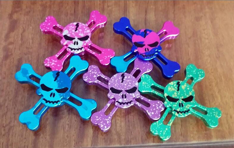 10 Colors Metal Skull Fidget Spinner Human Skeleton One Piece Hand Spinner Anti Stress Finger Spinners Toys