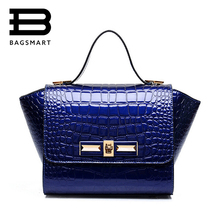 BAGSMART 2017 Women Designer Inspire Tote Fashion Trapeze Big Ears Smiley Swing Bag Alligator Celebrity Handbag Ladies T-1744