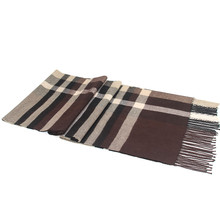 2017 New Men Plaid Tassel 180cm Long Scarves Boys Autumn Winter Scarf Business Man Young People Out Warm Shawl Wrap Great Gifts(China)