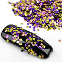 2g/box Mixed Colorful Hexagon Ultra-thin Nail Glitter Sequins 3d Shine Tiny Paillette Nail Flakes Manicure Decorations For Nails