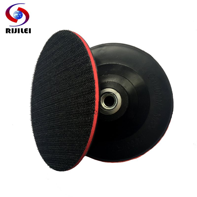 (4BFR) M10 100mm/ 4inch Rubber Backer of Polishing Pad Thin Hook &amp; Loop Sanding Pad Pallet Angle grinder Polisher Sander<br><br>Aliexpress