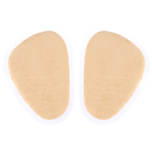 Super Soft Half Size Shoe Insoles Leather PU&Lint Unisex Forefoot Insole Feet Cushion Pad 1 Pair 2016 New