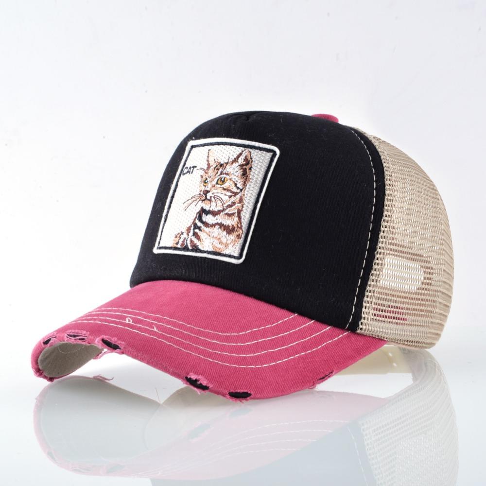 Fashion Unisex Patch Bones Wolf Embroidery Hip Hop Hats Breathable Mesh Baseball Caps Men Women Casquette Summer Trucker Gorras 6