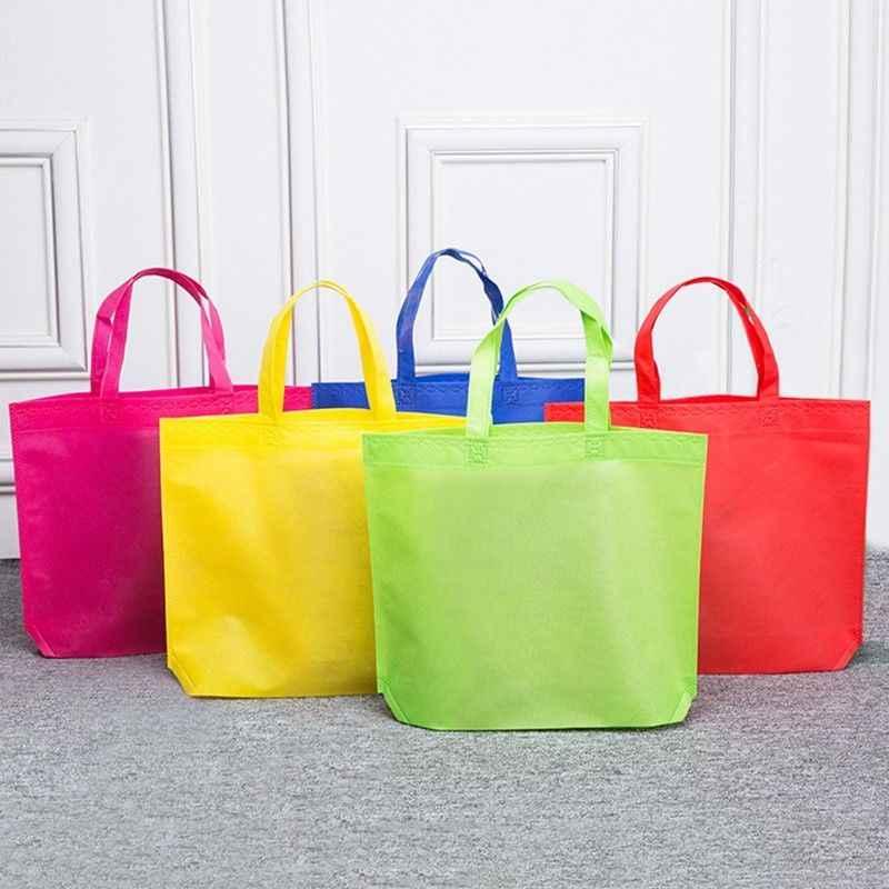10PCS Non-woven Fabric Shopping Bags Reusable
