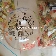 50pcs/lot 12 inch Transparent animal print balloon happy birthday party balloon Children's toy balloon transparent color animal