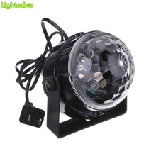 3W DJ Light RGB Color Changing Sound Actived Crystal Magic Mini Disco Ball Led Stage Lights for KTV Xmas Wedding Party Light(China)