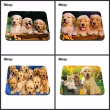 Playful Dog And Cat New Size Mouse Pad Rubber Pad 18*22cm and 25*29cm Computer Notebook Mice Mat Non-Slip Rubber Gaming Mousepad(China)