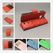 Magic Girl stand Leather Case with 2 Card Holder and pouch slot For Samsung Galaxy S2 SII GT I9100 Galaxy S2 Plus i9105