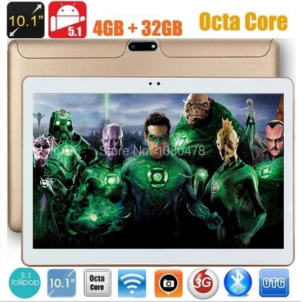 10 inch 3G WCDMA Tablet Octa Core 1280*800 5.0MP 4GB RAM 64GB ROM Android 7.0 Bluetooth GPS IPS Tablet Gifts(China)