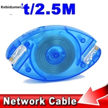 kebidumei 8Pin 8FT 2.5M Scalable Retractable Ethernet LAN Network Cable Cat5 RJ45 Cable Cord for PC Desktop Laptop