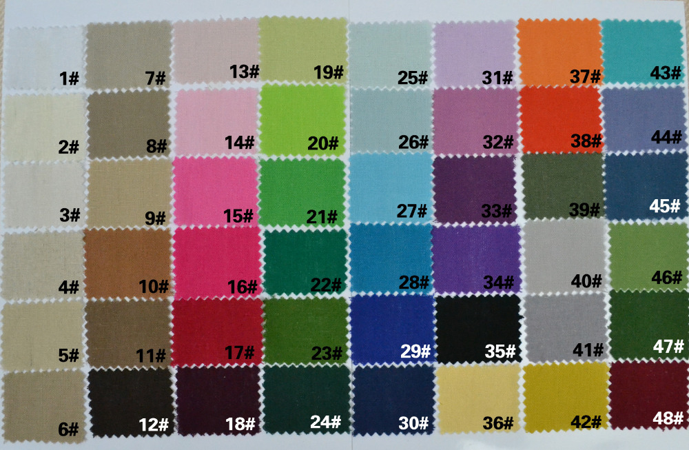 linen fabric color chart