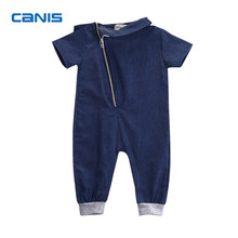 2017 Brand New Denim Newborn Toddler Infant Baby Boys Girls Short Sleeve Romper Jumpsuit Playsuit Outfits Fancy Autumn Clothing