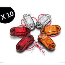 10pcs/Set Red Yellow White LED side Marker light car truck Caravan sealed trailer RV clearance lamp car covers 12/24V Universal