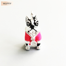 Pink French Bulldog Charm Pendant,Thomas Style Charm Good Jewerly For Women,2017 Ts Club Gift In 925 Sterling Silver Fit Bag