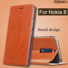 Buy case Nokia 8 case leather back silicone hard full protect nokia8 cover stand capas MOFi original Nokia 8 case cover for $8.99 in AliExpress store