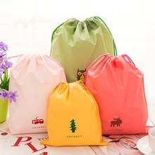 Candy Color Outdoor Travel Beach Gym Swimming Clothing Shoes Towel Nylon Drawstring Storage Bag EN6893