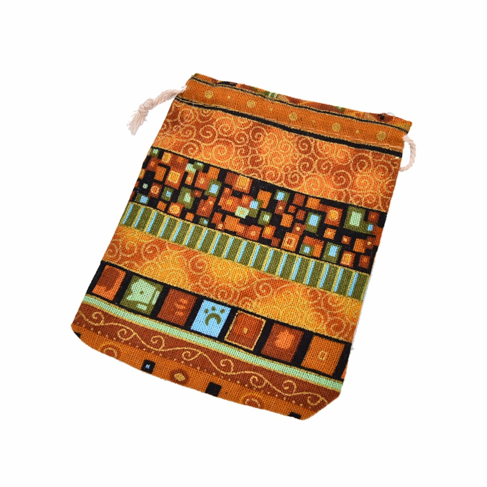 10Pcs Cotton Jewelry Bags 10Pcs Ethnic Gift Bags Stripe Tribal Tribe Drawstring Bags Christmas Jewelry Pouches
