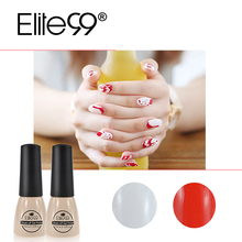Elite99 Red And White UV Nail Gel Polish 7ML Halloween Soak Off UV Gel LED Nail Polish Lacquer Hot Nail Gel Peel off Nail Polish