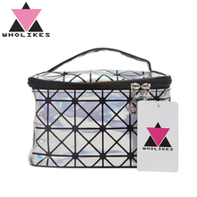 Wholikes Fashion Women PU Cosmetuc Bag Travel Cosmetic Makeup Bag Beautician Professional Cosmetic Case Organizer Toiletry Bag(China)