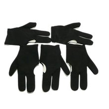 SZ-LGFM-New UK 5 Black Billiards Pool Snooker Cue Shooters 3 Fingers Gloves(China)