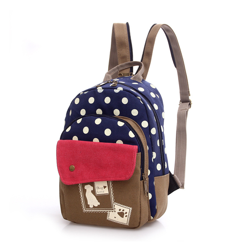 Women Mini Cute Dog Printing Backpack Small Canvas Backpack Chest Pack Girls Kawaii Travel Rucksack Vintage Backpacks JXY509<br><br>Aliexpress