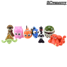 Finding dory Finding Nemo Clownfish Dory Collection PVC figure Dolls Toy Kids Gifts 8pcs/set