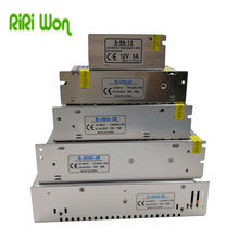 RiRi won DC 12V Power Supply Lighting Transformer driver Switch for LED Strips Adapter AC 220V 2A 3A 6.5A 10A 15A 25A 30A 33A