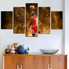 Legend Poster NBA Basketball Famous Star Michael Jordan Chicago Bulls Fashion Gifts Wall Art Oil Painting Hot Sale