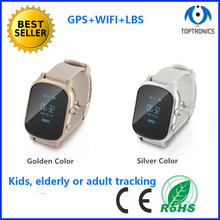2016 new arrival Kids elderly adult tracking GPS Tracker Watch GPS Bracelet Google Map Sos Button Personal Tracker GPS Locator