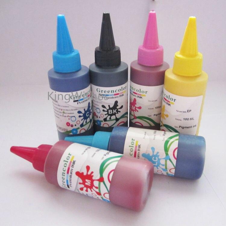 100ML x 6PCS T2431 T2432 T2433 T2434 T2435 T2436 Pigment Ink For Epson XP750 XP850 XP950 Inkjet Printer<br>
