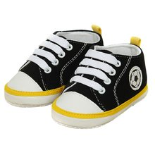 Newest 0-18 Month Unisex Kids Baby Soft Soled Crib Sports Shoe Laces Up Sneakers Walking Prewalker(China)