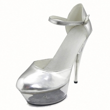 15cm Ultra High Heels Single Shoes Transparent Crystal Shoes 6 Inch Bridal Fashion Exotic Pumps(China)