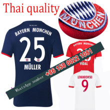 2017 2018 Bayernes Muniches jersey 17 18 Home Away football camisetas Thai AAA shirt lewandowski vidal muller Soccer jersey(China)