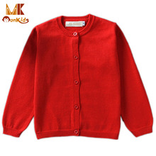 Monkids Sweaters 2017 New Multicolor Baby Girl Clothing Cardigan Knitting Sweater Coat Girls Children's Kids Sweater Clothes