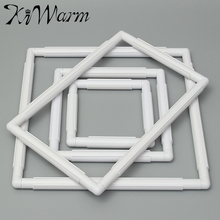 KiWarm 1Pc Rectangle Shape Plastic Embroidery Frame Cross Stitch Hoop Stand Lap Tool For Home DIY Sewing Craft Accessories
