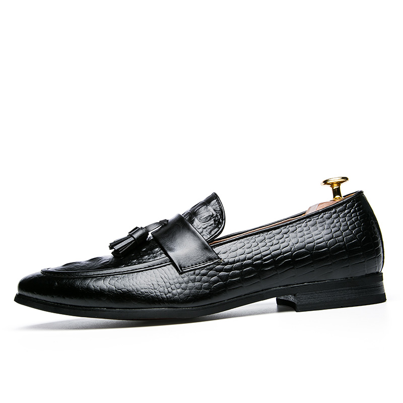 mens tassel shoes leather italian formal snake fish skin dress office footwear luxury brand fashion elegant oxford shoes for men (7)