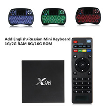 X96 TV Box 2GB 16GB Android 6.0 Smart TV Box Amlogic S905X Quad Core Marshmallow WIFI HDMI 2.0 4K*2K 1080 PK X92 Set-top Box