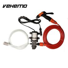 Vehemo 12V  Car Electric Washer Wash Pump Clean Kit High Pressure 130PSI 6L/Min 70W Auto Care Set Portable Washer For BMW AUDI