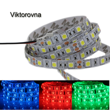 1-5M Super Bright 5050 SMD RGB Led Strip Light 60Leds/M DC 12V Led Tape Flexible Light non/Ip65 Waterproof Home String Ribbon(China)