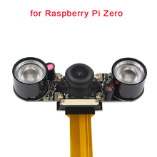 Raspberry Pi Zero W Night Vision Camera Wide Angle Fisheye 5 MP 1080P Camera + 2 Infrared IR LED Light for Raspberry Pi Zero W(China)