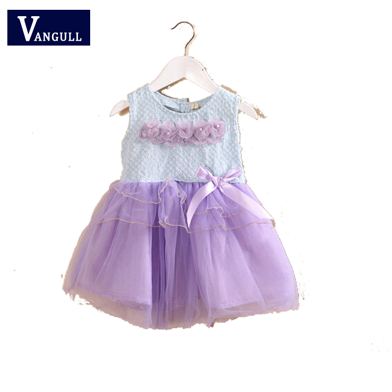 2015 New Childrens Clothing Children Hollow Mesh Stitching Summer Fashion Girls Dress Princess Dress Children Dress<br>