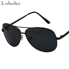 Lukoko Sunglases Retro Pilot Sunglasses Men Polarized Glasses Black Cheap Polarized Sunglasses Men 2017 Aviator Glasses ulo
