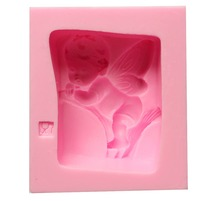 Fondant Cupid angel baby soap mold cooking tools fondant baking Cake DIY Sugar Silicone Craft Fondant Mold Tray candy