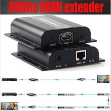 HDMI HDBitT Extende LKV383 by single cat6/6e cable up to 120M with IR extension(sender and receiver included)