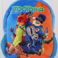 2016 Kids Backpack Zootopia Nick Judy Benjamin School Backpack 3D Cartoon Orthopedic Children For Boys And Girls