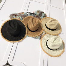 BONJEAN Women Sun Hats Fashion Wheat Panama Beach Boater Summer Hats For Women Chapeau ladies Wide Brim Burr Raffia Straw Hats(China)