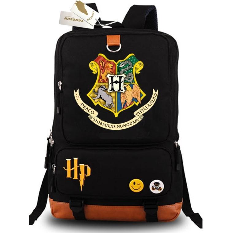 New Harry Potter School Backpacks Printing Shoulder Students Book Bags Rucksack Laptop Shoulder Travel Bags<br>