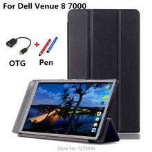 "For Dell Venue 8 Stand flip Custer PU leather Case Cover capa para For Dell Venue 8 7000 7840 8.4"" Tablets case +OTG+Pen"