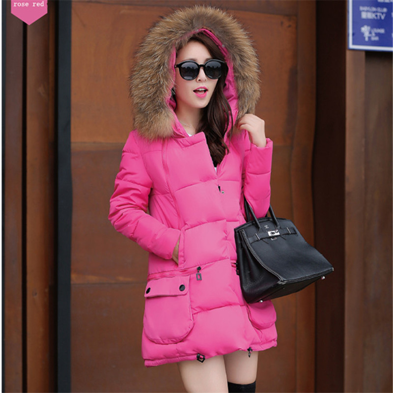 2016 winter fahion women coats full sleeve cotton down thick button zippers pockrts casual slim coatОдежда и ак�е��уары<br><br><br>Aliexpress