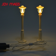 JOY MAGS LED Building Block Accessory Toy 1pcs Streetlight USB Night Scene for Creator Compatible with Lego